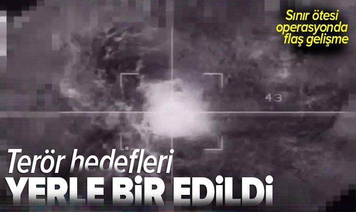 Son dakika: Görüntüler paylaşıldı! MSB duyurdu: Terör hedefleri yerle bir edildi