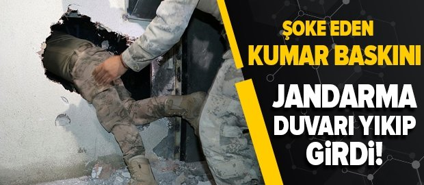 Son dakika | Jandarma duvarı yıkıp girdi! İzmir'de şoke eden kumar baskını