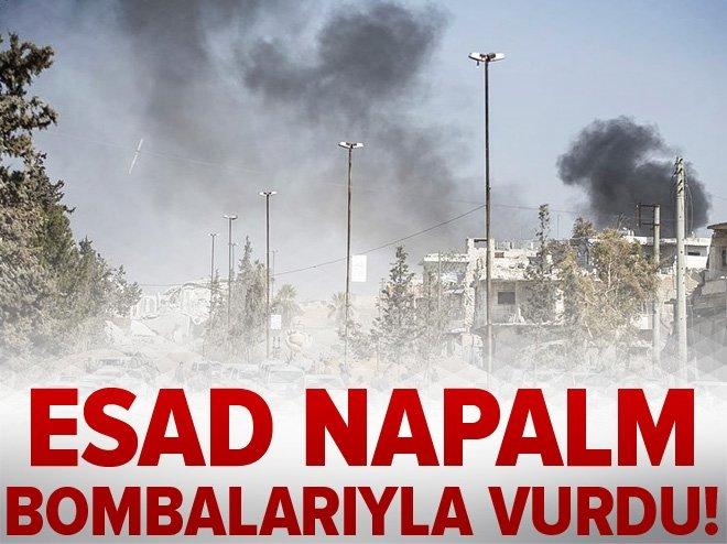 ESAD SİVİLLERİ NAPALM BOMBALARIYLA VURDU