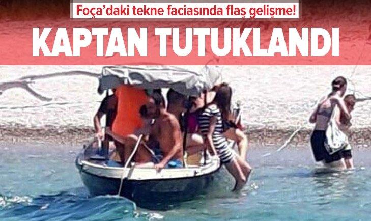 Foça'daki tekne faciasında flaş gelişme: Kaptan tutuklandı!