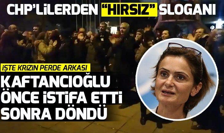 CHP'de kriz! Canan Kaftancıoğlu önce istifa etti sonra döndü