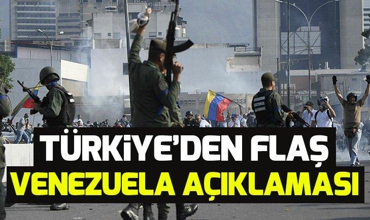 Son dakika: Türkiye'den Venezuela'daki darbe girişimi ile ilgili kritik açıklama