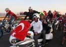 DIŞİŞLERİ BAKANI ÇAVUŞOĞLU'NU 60 MOTOSİKLETLİ KARŞILADI