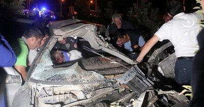 Karaman'da trafik kazası: Otomobilde sıkışan sürücü için herkes seferber oldu
